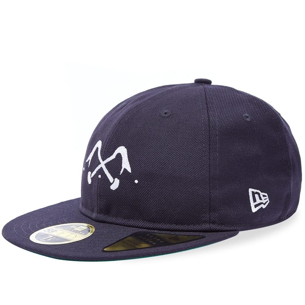 ファッションブランド カジュアル ファッション キャップ ハット BLEU DE PANAME ロゴ 【 X NEW ERA 59FIFTY LOGO CAP NAVY 】 バッグ キャップ 帽子 メンズキャップ 送料無料