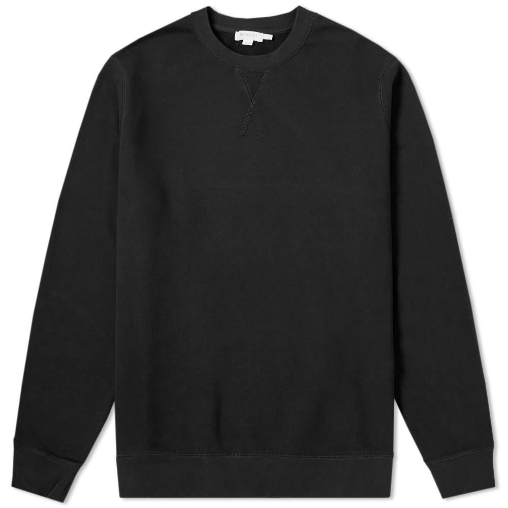 SUNSPEL スウェット 【 SWEAT LOOPBACK TOP BLACK 】 メンズファッション トップス トレーナー 送料無料