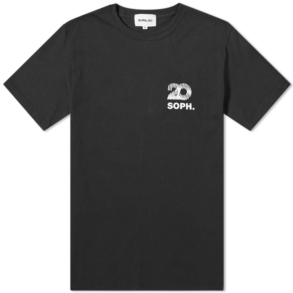 【NeaYearSALE1/1-1/5】SOPHNET. ロゴ SOPH.20 【 SQUARE CHEST LOGO TEE BLACK 】 メンズファッション トップス Tシャツ カットソー 送料無料