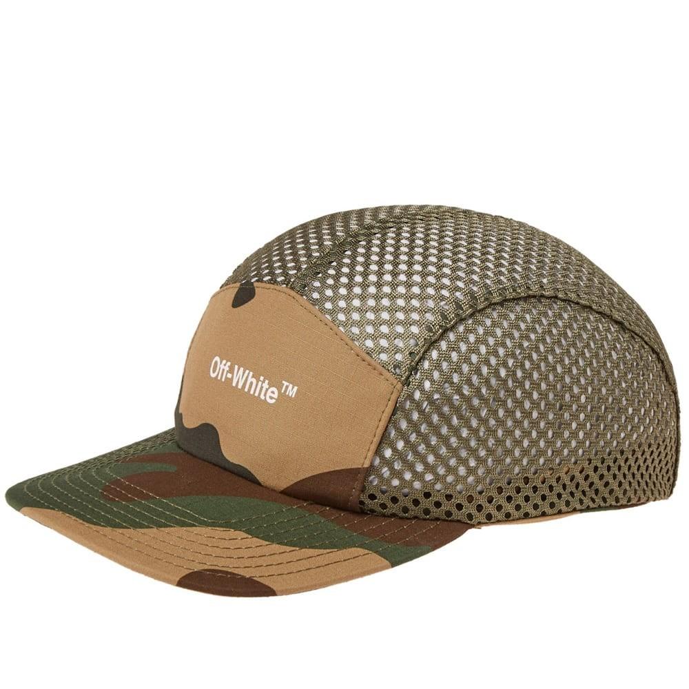 ファッションブランド カジュアル ファッション キャップ ハット OFF-WHITE 【 OFFWHITE MESH 5 PANEL CAP ALL OVER GREEN 】 バッグ キャップ 帽子 メンズキャップ 送料無料