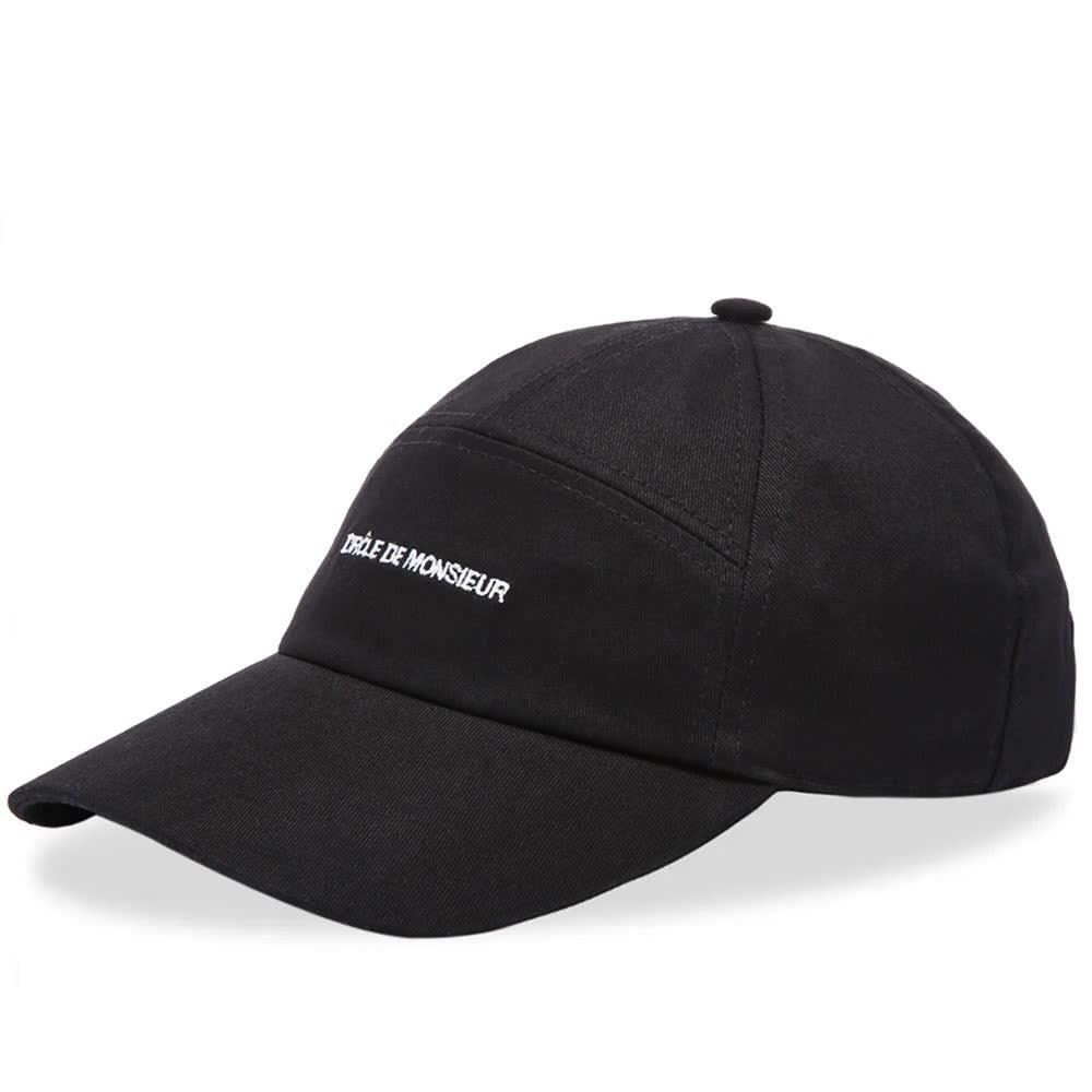 ファッションブランド カジュアル ファッション キャップ ハット DR・・LE DE MONSIEUR ロゴ CAP 【 7 PANEL LOGO BLACK 】 バッグ キャップ 帽子 メンズキャップ 送料無料