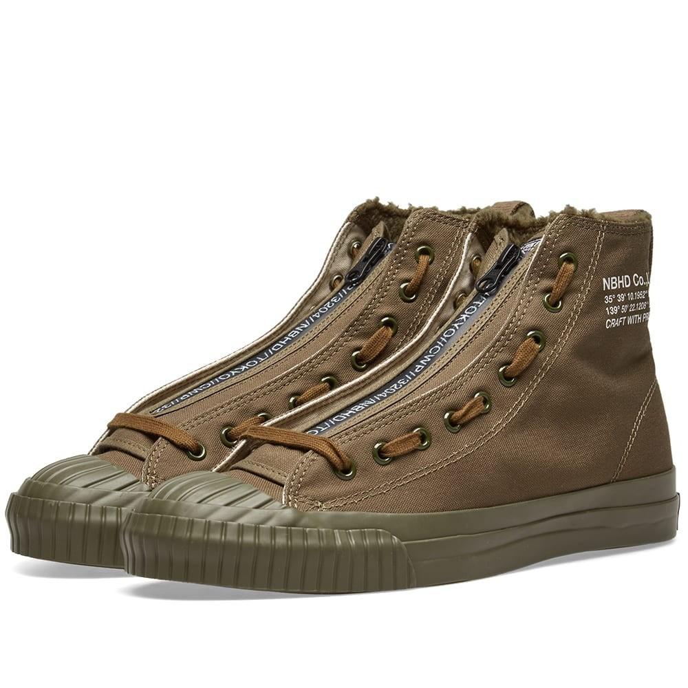 NEIGHBORHOOD G.r スニーカー メンズ 【 G.r Hi Sneaker 】 Olive Drab