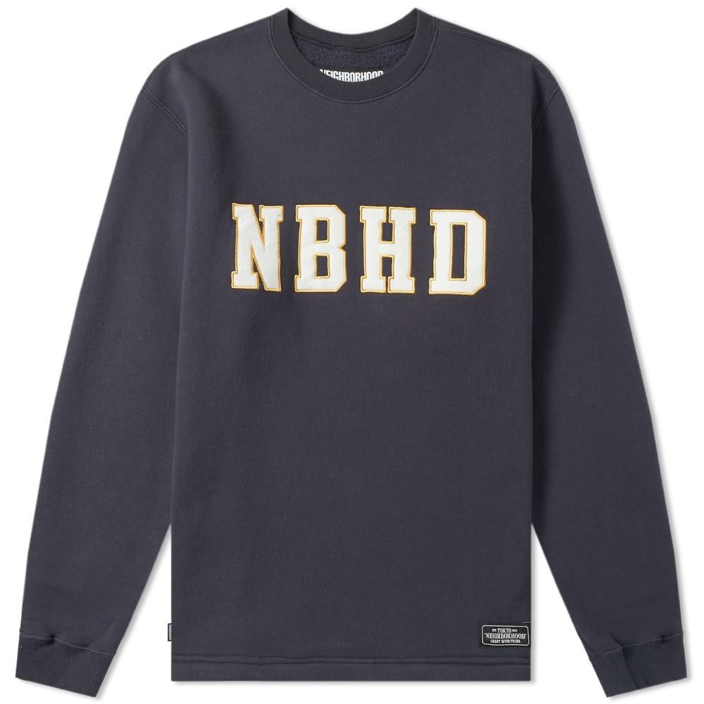 NEIGHBORHOOD 【 LOGIC CREW SWEAT NAVY 】 メンズファッション トップス スウェット トレーナー 送料無料