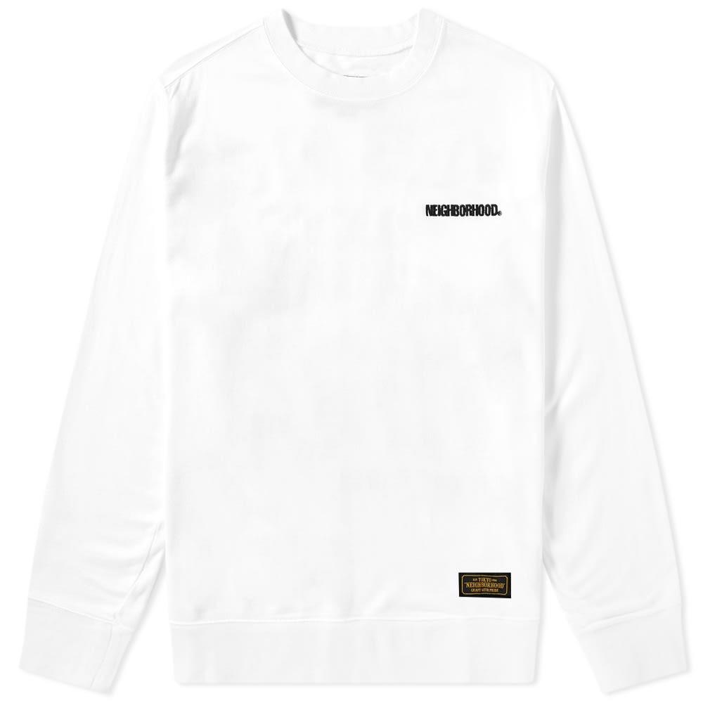 NEIGHBORHOOD スウェット メンズファッション トップス トレーナー メンズ 【 Squad Crew Sweat 】 White