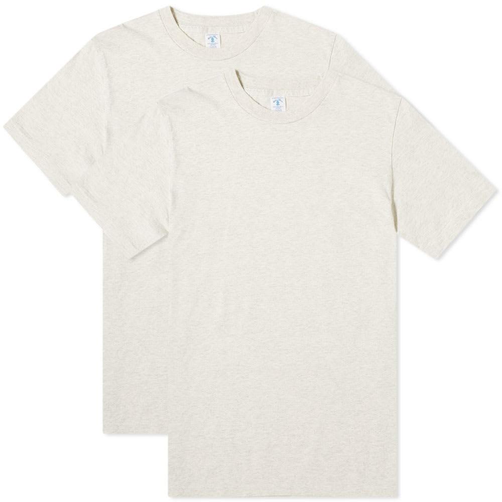 VELVA SHEEN Tシャツ メンズファッション トップス カットソー メンズ 【 2 Pack Plain Tee 】 Oat