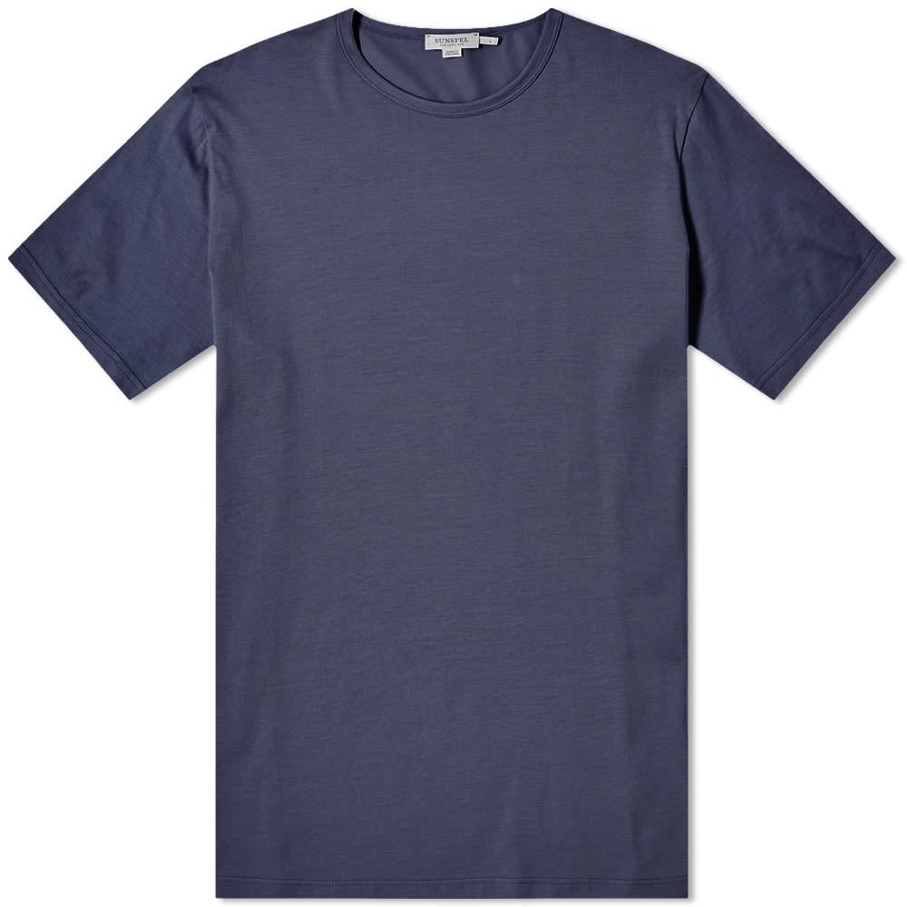 【スーパーセール中! 6/11深夜2時迄】SUNSPEL クラシック Tシャツ メンズファッション トップス カットソー メンズ 【 Classic Crew Neck Tee 】 Navy