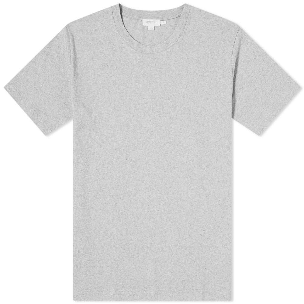 【スーパーセール中! 6/11深夜2時迄】SUNSPEL Tシャツ メンズファッション トップス カットソー メンズ 【 Organic Riviera Tee 】 Grey Melange
