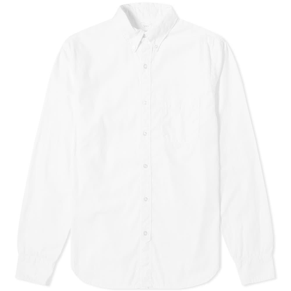 SAVE KHAKI カーキ ダウン オックスフォード 【 GARMENT DYED BUTTON DOWN OXFORD SHIRT WHITE 】 メンズファッション トップス カジュアルシャツ 送料無料