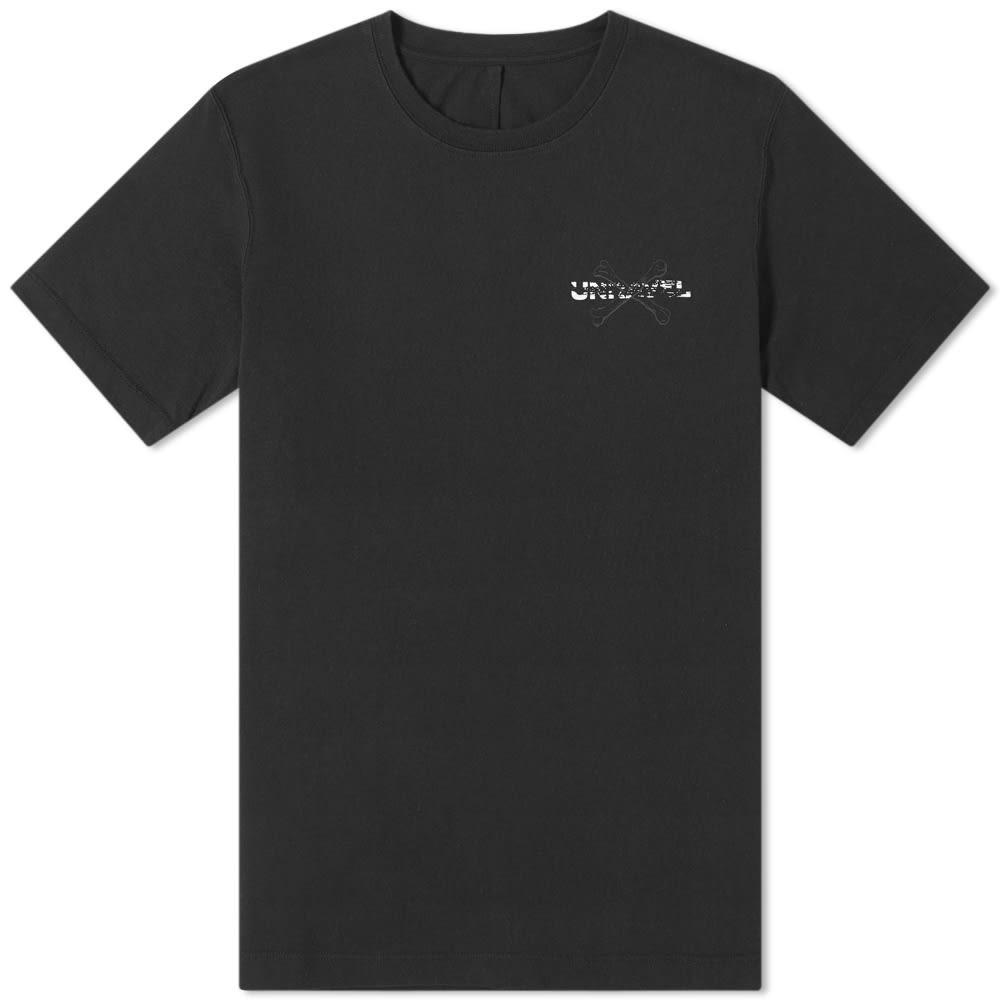 UNRAVEL PROJECT ロゴ Tシャツ メンズファッション トップス カットソー メンズ 【 Bones Logo Print Tee 】 Black