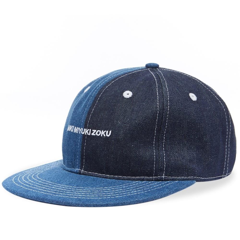 ファッションブランド カジュアル ファッション キャップ ハット MKI デニム 【 DENIM CAP PATCHWORK 】 バッグ キャップ 帽子 メンズキャップ 送料無料