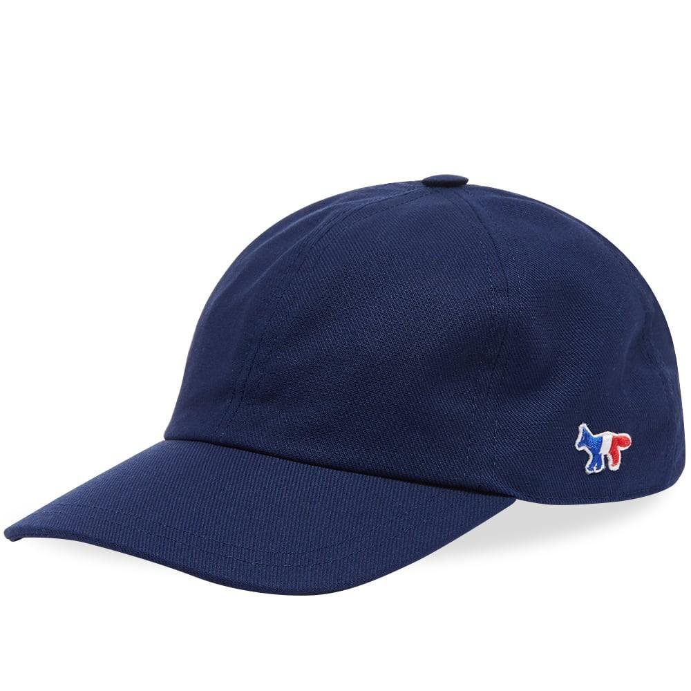 ファッションブランド カジュアル ファッション キャップ ハット MAISON KITSUNE フォックス KITSUN・・ 【 TRICOLOR FOX 6 PANEL CAP NAVY 】 バッグ キャップ 帽子 メンズキャップ 送料無料