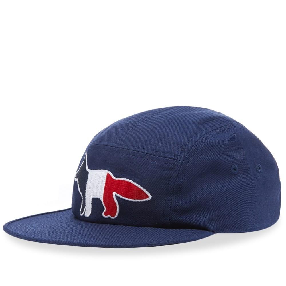 ファッションブランド カジュアル ファッション キャップ ハット MAISON KITSUNE フォックス KITSUN・・ 【 TRICOLOUR FOX 5 PANEL CAP NAVY 】 バッグ キャップ 帽子 メンズキャップ 送料無料