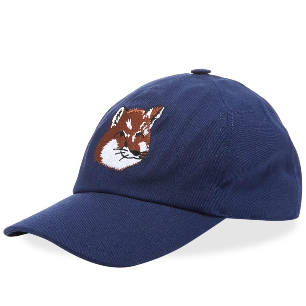 ファッションブランド カジュアル ファッション キャップ ハット MAISON KITSUNE フォックス KITSUN・・ 【 6 PANEL FOX HEAD EMBROIDERY CAP NAVY 】 バッグ キャップ 帽子 メンズキャップ 送料無料