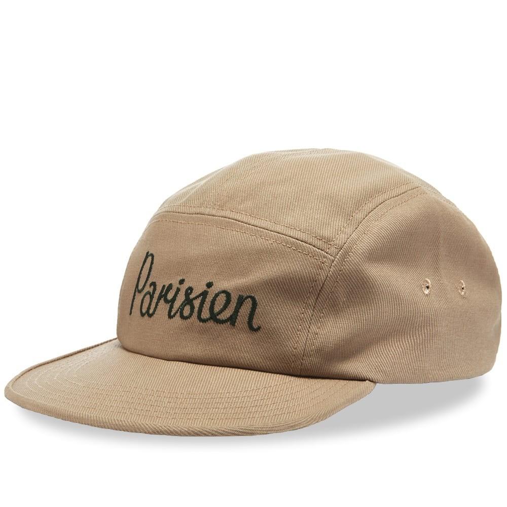 ファッションブランド カジュアル ファッション キャップ ハット MAISON KITSUNE KITSUN・・ 【 PARISIEN 5 PANEL CAP BEIGE 】 バッグ キャップ 帽子 メンズキャップ 送料無料