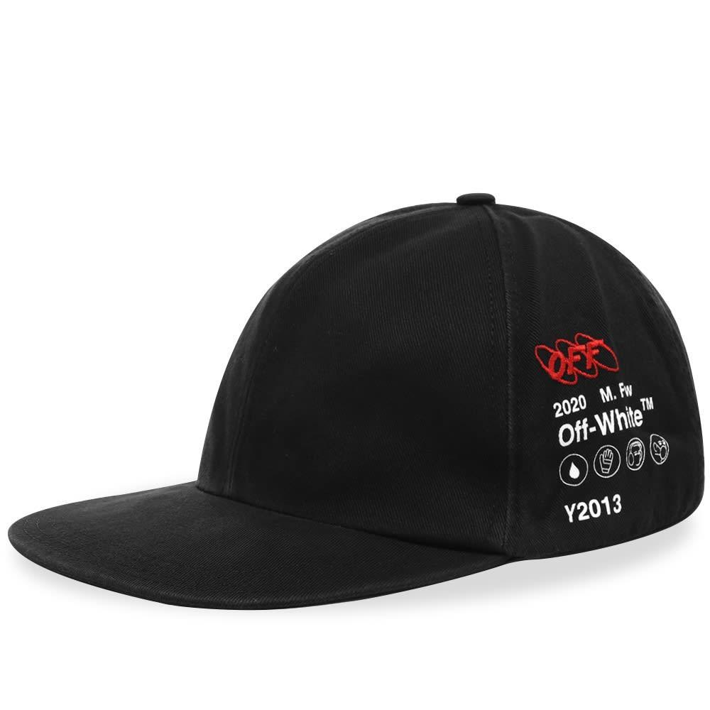 ファッションブランド カジュアル ファッション キャップ ハット OFF-WHITE 【 OFFWHITE INDUSTRIAL Y013 6 PANEL CAP BLACK 】 バッグ キャップ 帽子 メンズキャップ 送料無料
