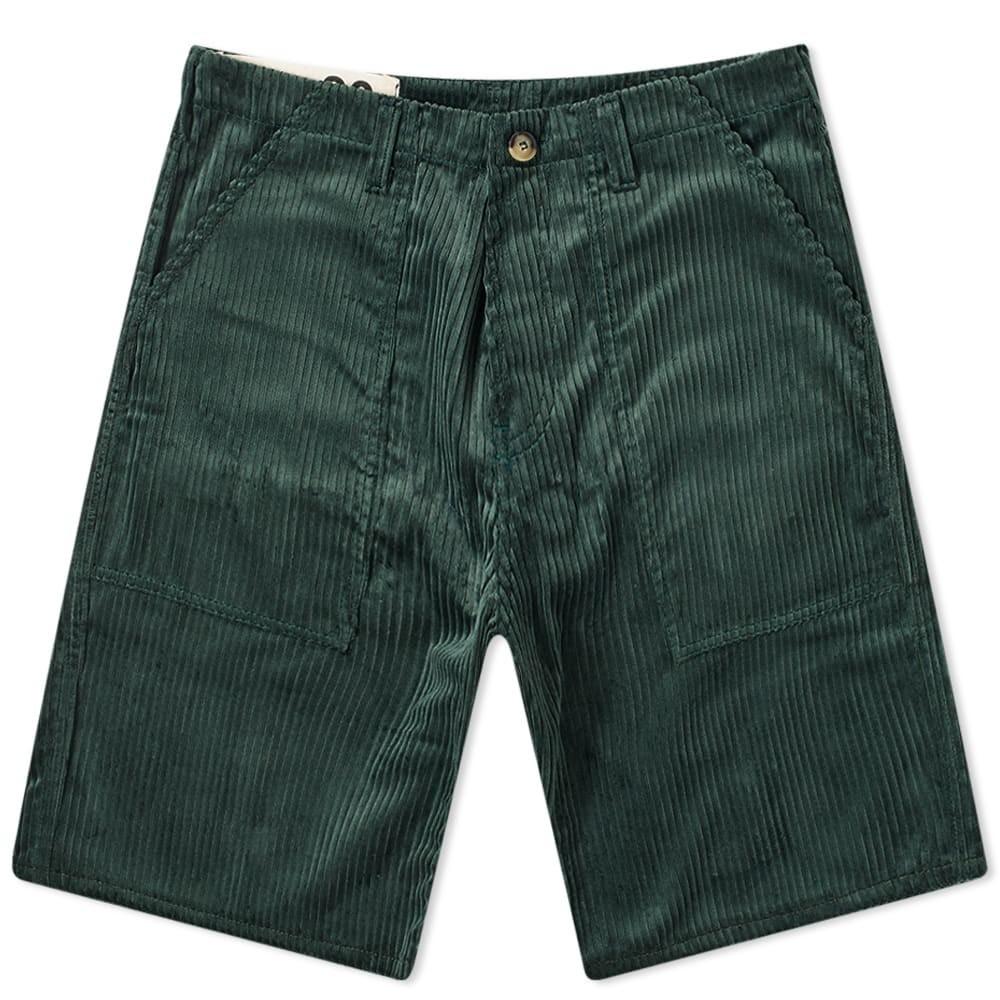 BLEU DE PANAME コーデュロイ 【 CORDUROY FATIGUE SHORT FOREST GREEN 】 メンズファッション ズボン パンツ 送料無料
