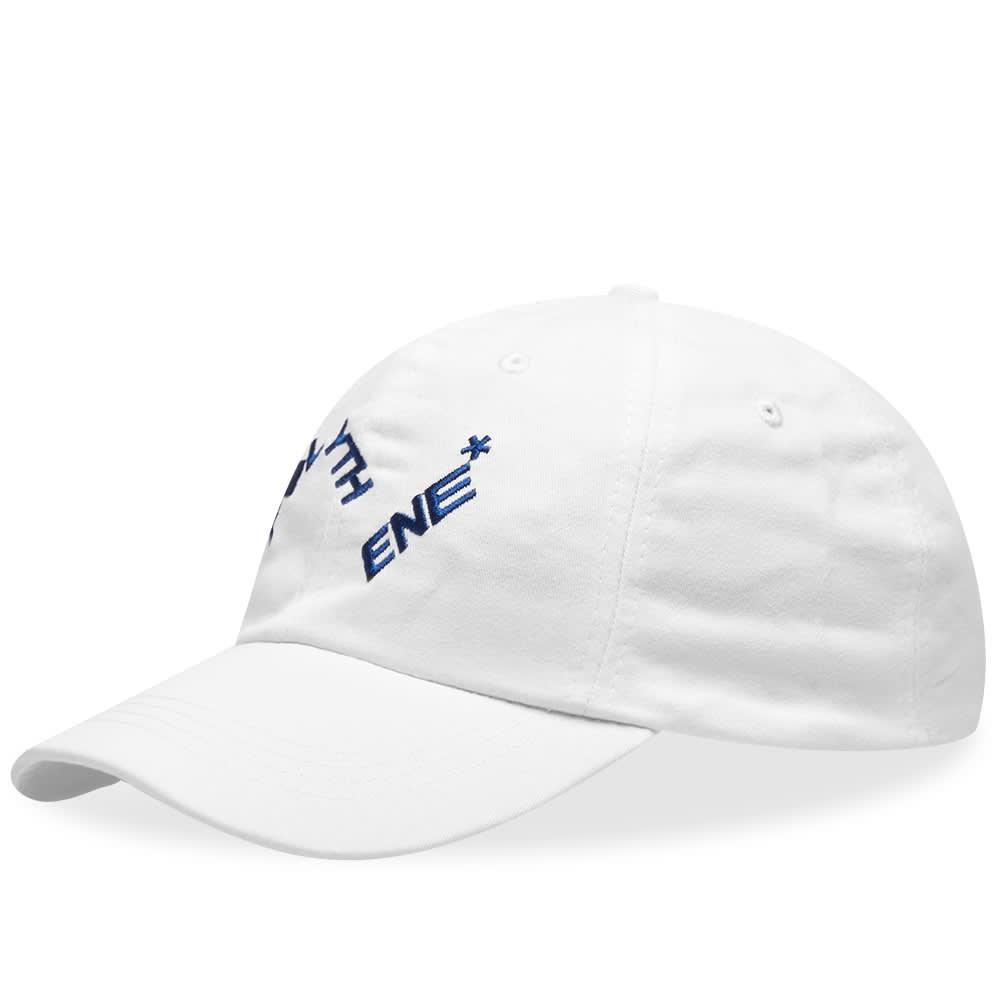 ファッションブランド カジュアル ファッション キャップ ハット POLYTHENE OPTICS ロゴ  【 DISTORTED LOGO CAP WHITE BLUE 】 バッグ キャップ 帽子 メンズキャップ 送料無料