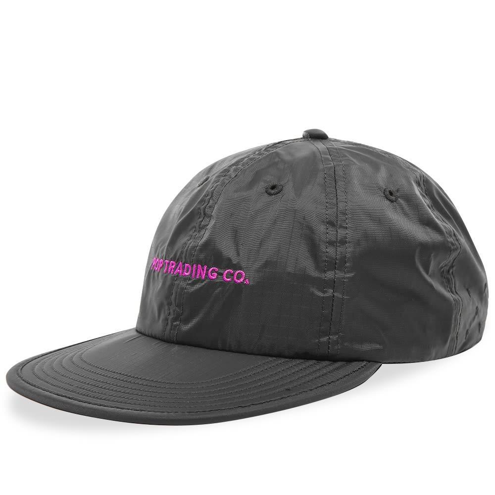 ファッションブランド カジュアル ファッション キャップ ハット POP TRADING COMPANY ロゴ ナイロン 【 LOGO NYLON CAP ANTHRACITE 】 バッグ キャップ 帽子 メンズキャップ 送料無料