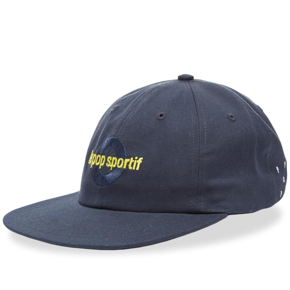 ファッションブランド カジュアル ファッション キャップ ハット POP TRADING COMPANY 【 LE SPORTIF CAP NAVY 】 バッグ キャップ 帽子 メンズキャップ 送料無料