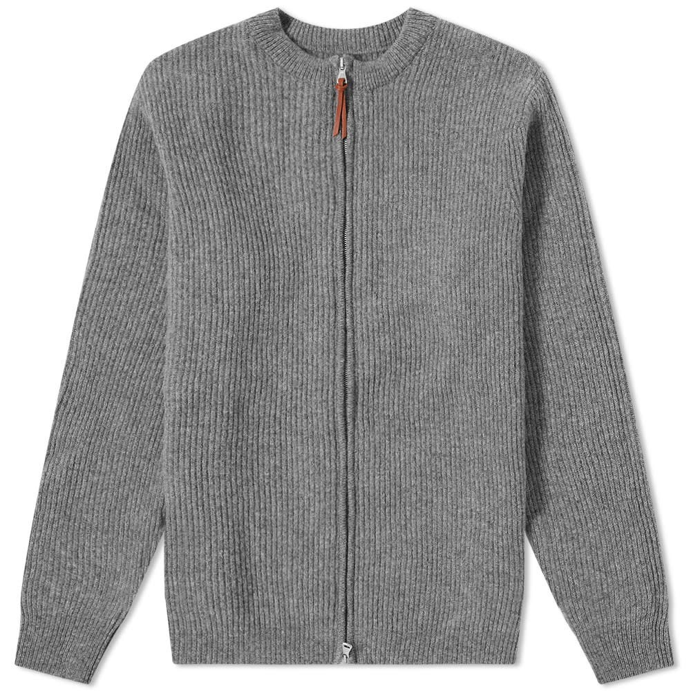 ALBAM 【 ZIPPED RIBBED CREW GREY 】 メンズファッション トップス スウェット トレーナー 送料無料