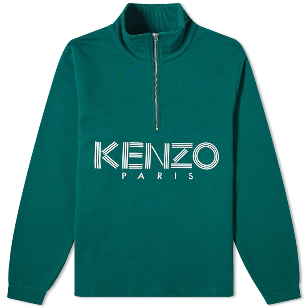 KENZO 【 SPORT HALFZIP SWEAT PINE 】 メンズファッション トップス スウェット トレーナー 送料無料