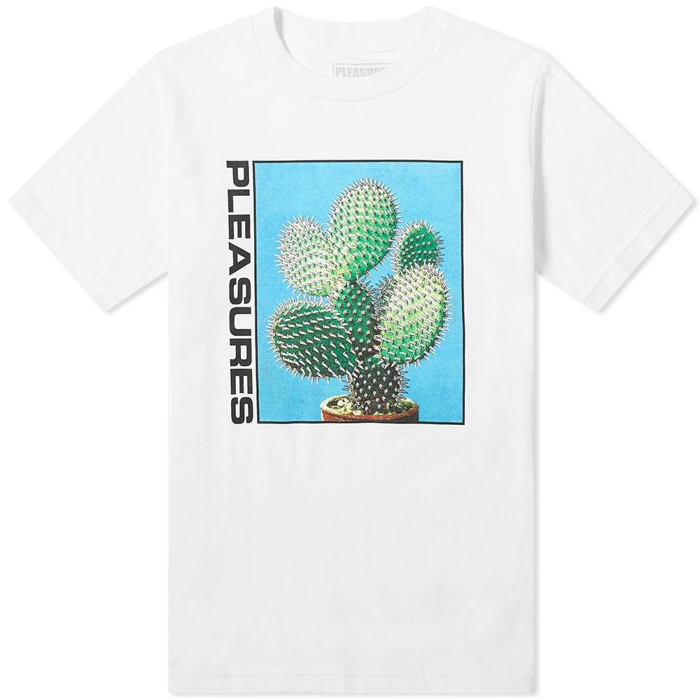 【NeaYearSALE1/1-1/5】PLEASURES 【 SPIKE TEE WHITE 】 メンズファッション トップス Tシャツ カットソー 送料無料