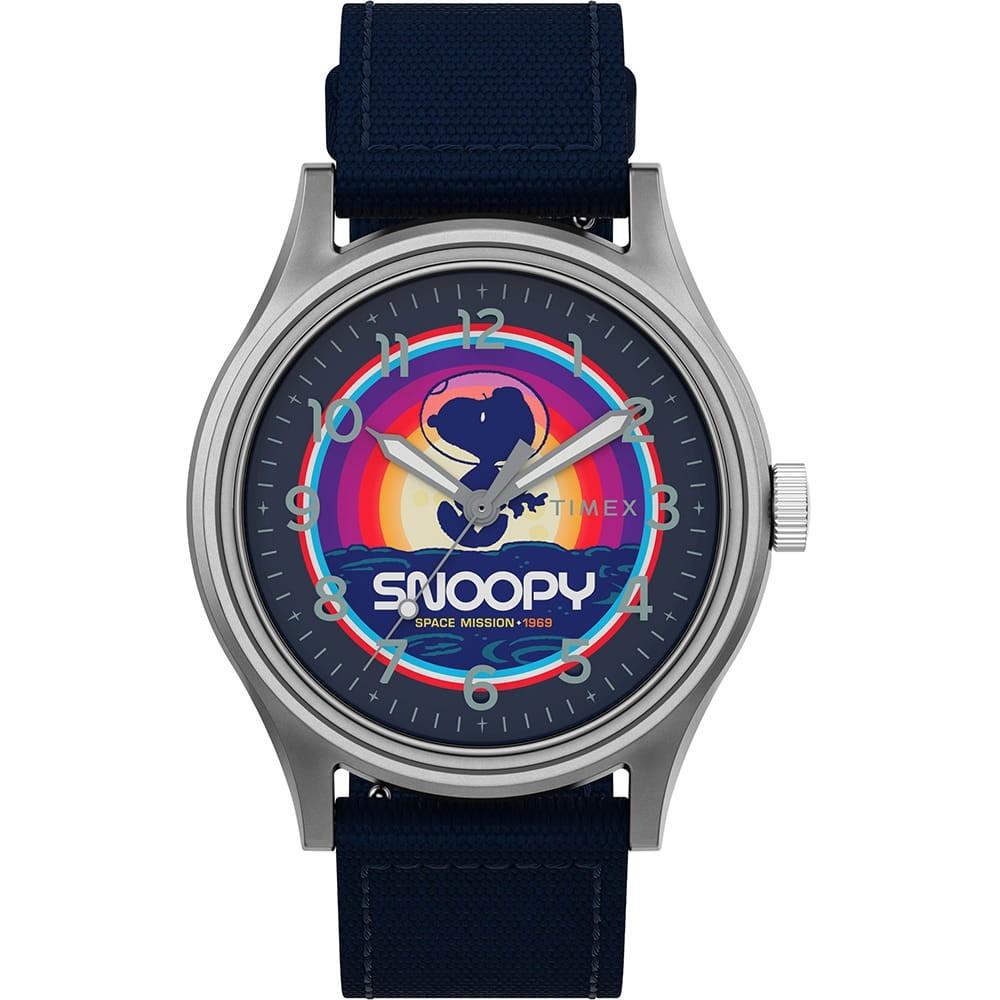 【スーパーセール中! 3/11深夜2時迄】TIMEX タイメックス & 【 X PEANUTS SNOOPY SPACE MISSION MK1 SST SILVER BLUE 】 腕時計 メンズ腕時計 送料無料