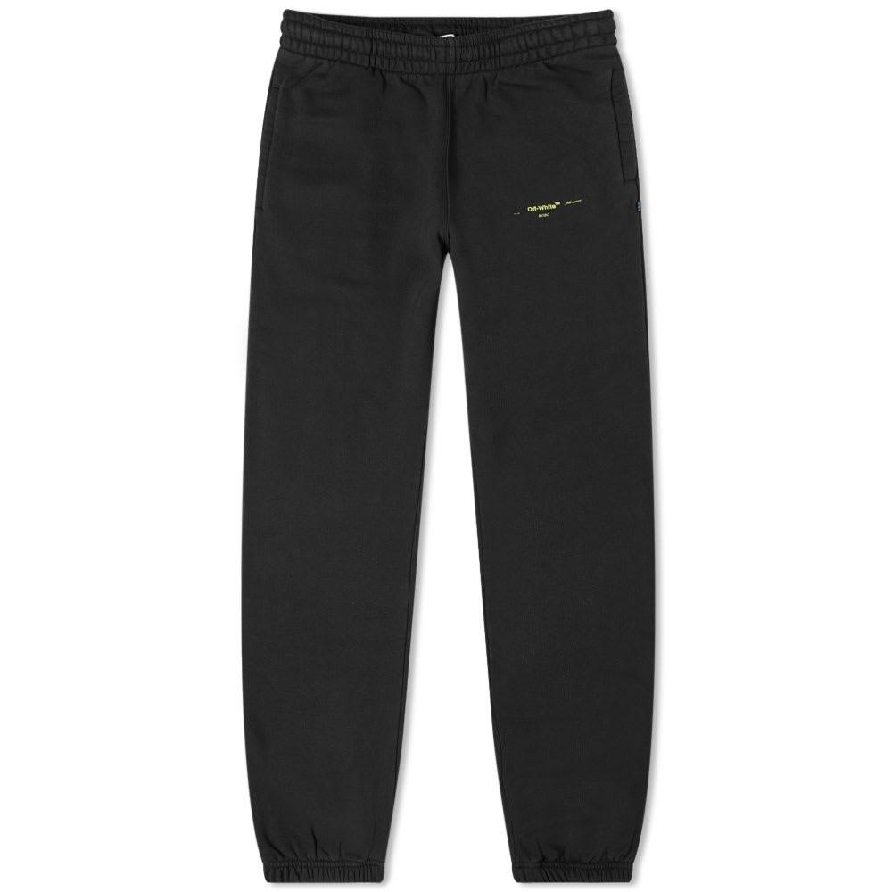 OFF-WHITE スリム スウェット 【 SLIM SWEAT OFFWHITE ACRYLIC ARROWS PANT BLACK 】 メンズファッション ズボン パンツ 送料無料