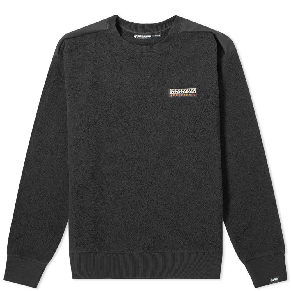 NAPAPIJRI フリース 【 TASE FLEECE CREW SWEAT BLACK 】 メンズファッション トップス スウェット トレーナー 送料無料