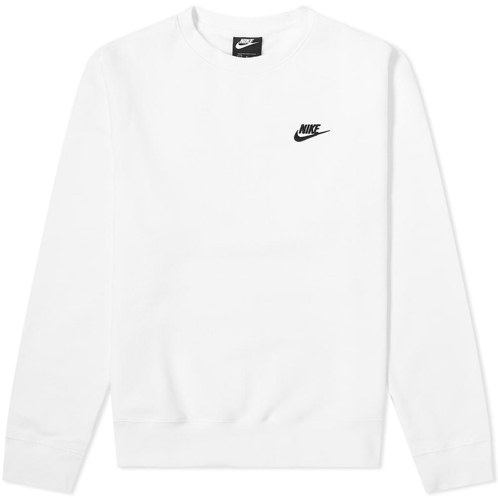 ナイキ NIKE クラブ スウェット メンズファッション トップス トレーナー メンズ 【 Club Crew Sweat 】 White & Black