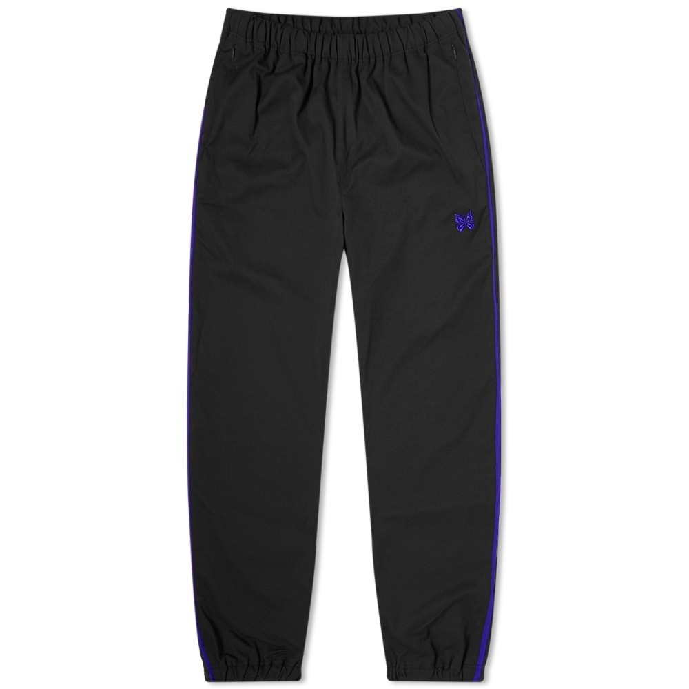 NEEDLES ラン トラック 【 RUN UP TRACK PANT BLACK 】 メンズファッション ズボン パンツ 送料無料