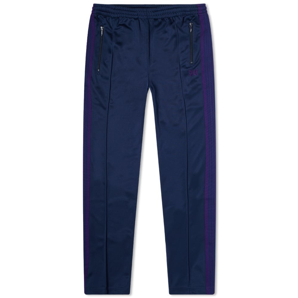 NEEDLES トラック パンツ 紺 ネイビー 【 NAVY NEEDLES POLY NARROW TRACK PANT 】 メンズファッション ズボン パンツ