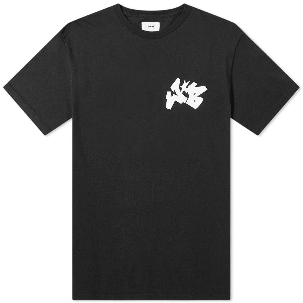 SOPHNET. ワイルド ロゴ Tシャツ Soph. メンズファッション トップス カットソー メンズ 【 Soph. X Wild Bunch Wb Small Logo Tee 】 Black