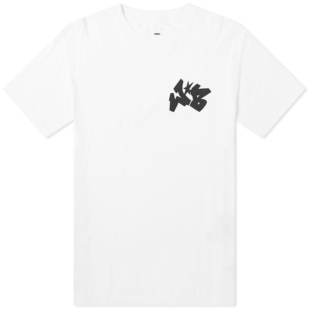 SOPHNET. ワイルド ロゴ Tシャツ Soph. メンズファッション トップス カットソー メンズ 【 Soph. X Wild Bunch Wb Small Logo Tee 】 White
