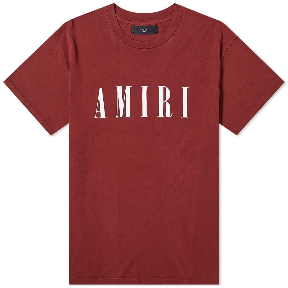 【スーパーセール商品 12/4-12/11】AMIRI コア & 【 CORE TEE BURGUNDY WHITE 】 メンズファッション トップス Tシャツ カットソー 送料無料