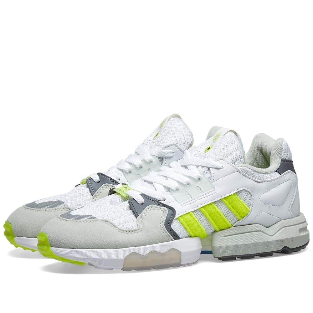 ADIDAS CONSORTIUM トルション スニーカー メンズ 【 Adidas X Footpatrol Zx Torsion 】 White, Solar Yellow & Grey