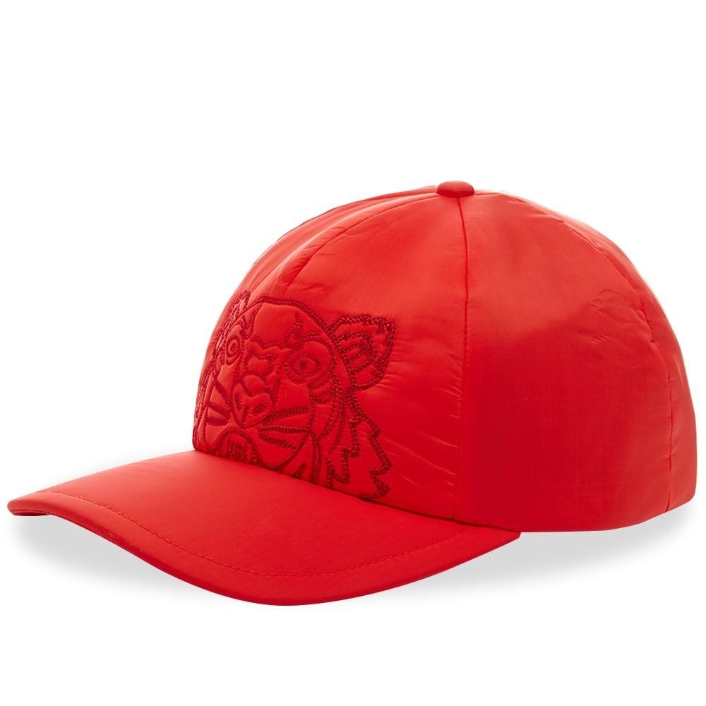 ファッションブランド カジュアル ファッション キャップ ハット KENZO ナイロン 【 NYLON EMBROIDERED CAP MEDIUM RED 】 バッグ キャップ 帽子 メンズキャップ 送料無料