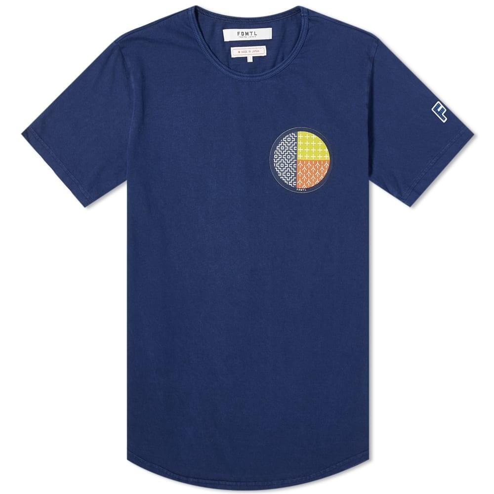 FDMTL Tシャツ メンズファッション トップス カットソー メンズ 【 Circle Sashiko Tee 】 Indigo