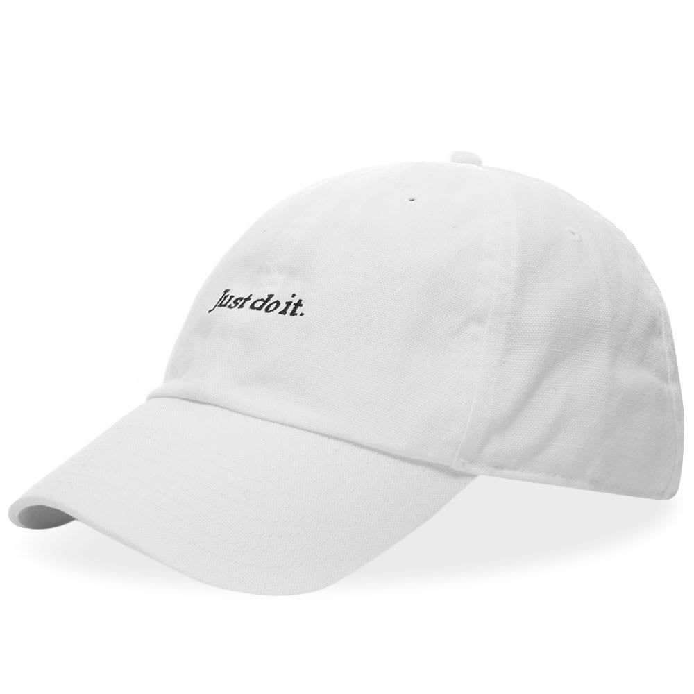 ファッションブランド カジュアル ファッション キャップ ハット ナイキ NIKE 【 JUST DO IT CAP WHITE 】 バッグ キャップ 帽子 メンズキャップ 送料無料