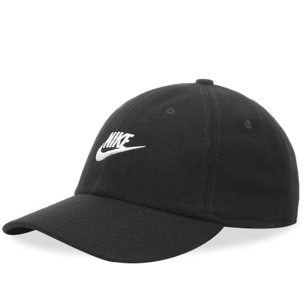 ファッションブランド カジュアル ファッション キャップ ハット ナイキ NIKE ロゴ 【 FLANNEL LOGO CAP BLACK 】 バッグ キャップ 帽子 メンズキャップ 送料無料