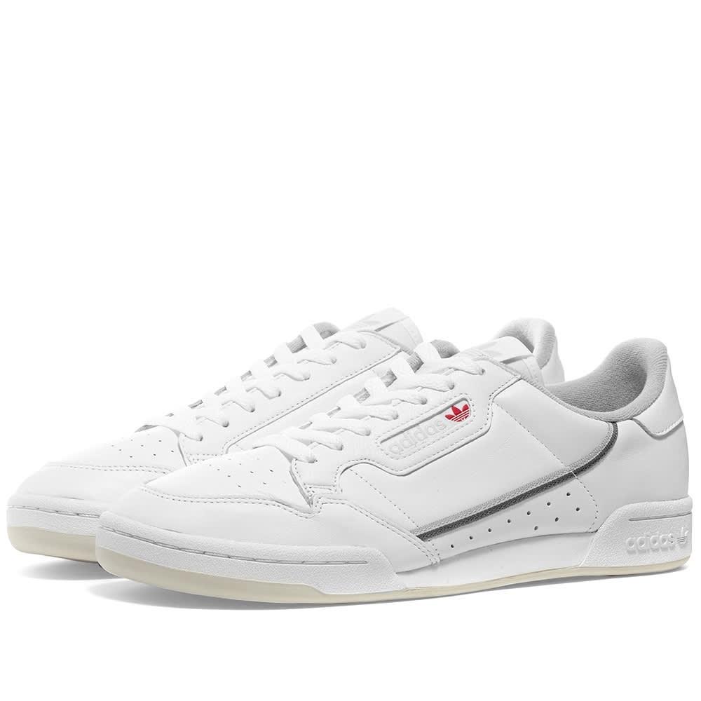 アディダス ADIDAS スニーカー メンズ 【 Continental 80 】 White & Grey