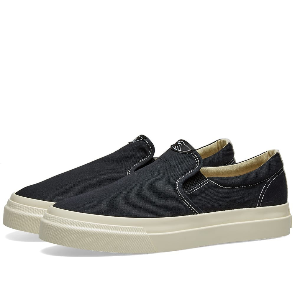 STEPNEY WORKERS CLUB スニーカー メンズ 【 Lister Canvas Slip On 】 Black