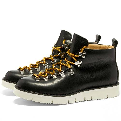 FRACAP ブーツ メンズ 【 M120 Cut Vibram Sole Scarponcino Boot 】 Black & White