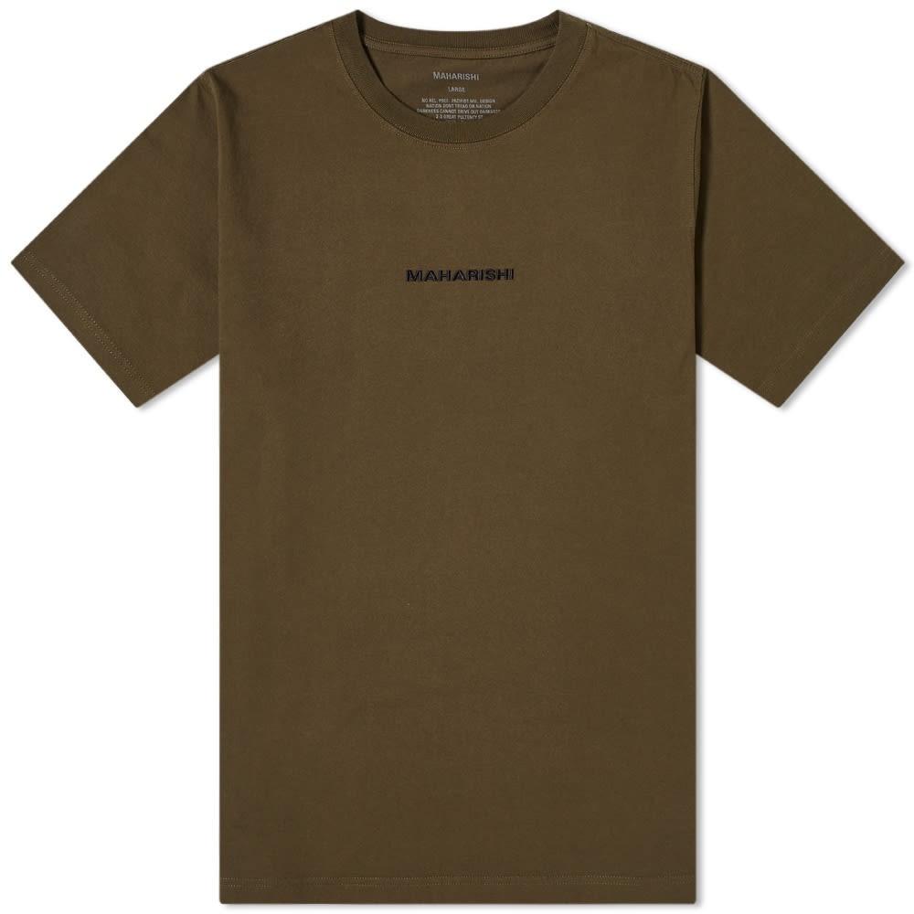 MAHARISHI クラシック ロゴ Tシャツ メンズファッション トップス カットソー メンズ 【 Classic Logo Tee 】 Mil Olive