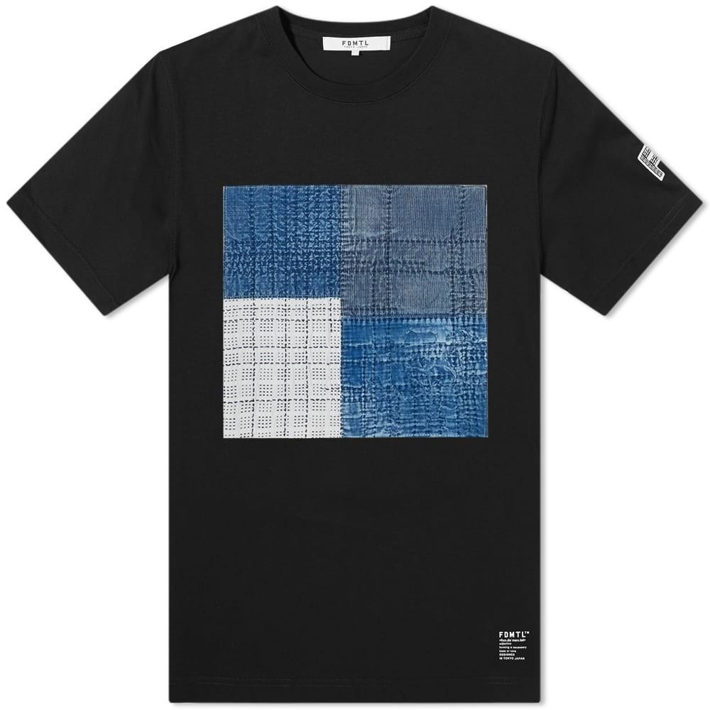FDMTL Tシャツ メンズファッション トップス カットソー メンズ 【 Boro Patchwork Tee 】 Black