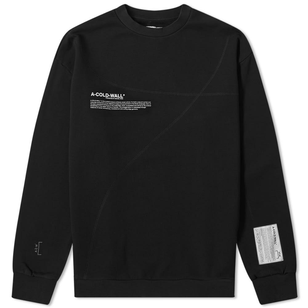 【2018最新作】 A-COLD-WALL* クラシック CLASSIC ACOLDWALL A-COLD-WALL**【 CLASSIC OVERLOCK トレーナー MISSION STATEMENT CREW SWEAT BLACK】 メンズファッション トップス スウェット トレーナー 送料無料:スニーカーケース 店, 師勝町:211998d0 --- nagari.or.id