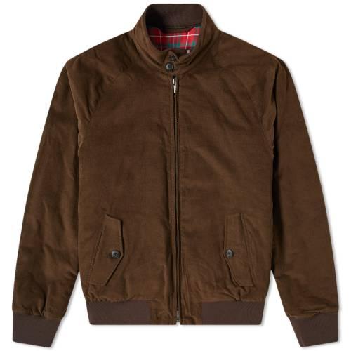 BARACUTA コーデュロイ メンズファッション コート ジャケット メンズ 【 G9 Corduroy Harrington Jacket 】 Olive