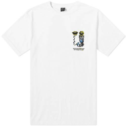 BRAIN DEAD Tシャツ メンズファッション トップス カットソー メンズ 【 Invasion Tee 】 White
