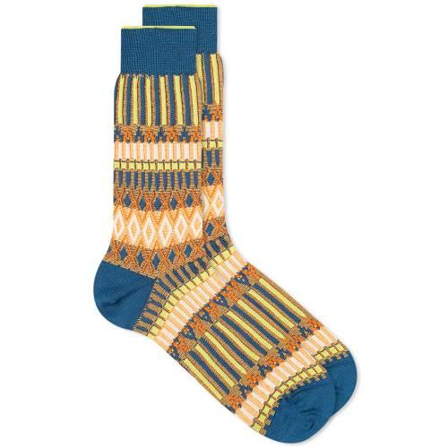 AYAME SOCKS ランチ インナー 下着 ナイトウエア メンズ 下 レッグ 【 Ayame Basket Lunch Sock 】 Blue
