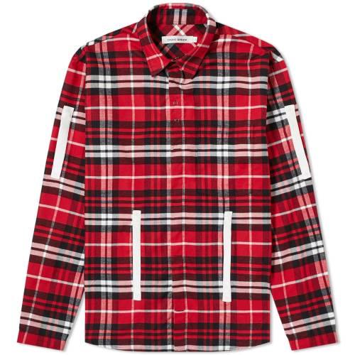 CRAIG GREEN 緑 グリーン 【 PLAID SHIRT RED 】 メンズファッション トップス カジュアルシャツ 送料無料